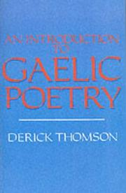 An introduction to Gaelic poetry PDF