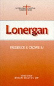 Lonergan by Frederick E. Crowe