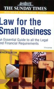 Law for the small business by Patricia E. Clayton
