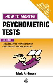 How to Master Psychometric Tests by Mark Parkinson