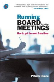 Running Board Meetings by Patrick Dunne