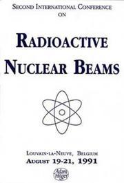 Radioactive nuclear beams, 1991 PDF
