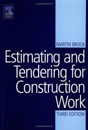 Estimating and tendering for construction work by Martin Brook