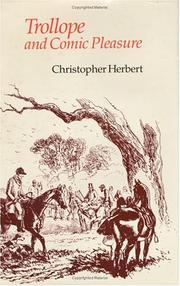 Trollope and comic pleasure by Christopher Herbert
