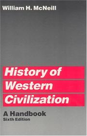 History of Western civilization by William Hardy McNeill