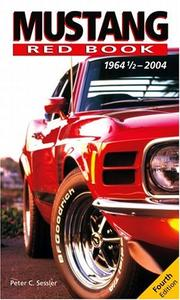 Mustang red book by Peter C. Sessler