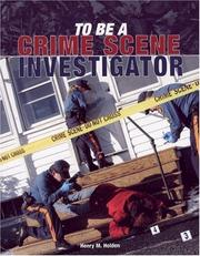 To Be a Crime Scene Investigator (To Be a) PDF