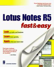 Lotus Notes R5 Fast & Easy PDF