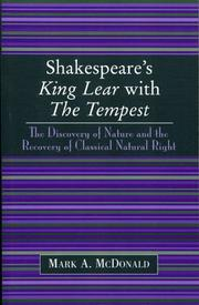 Shakespeare's King Lear with The tempest PDF