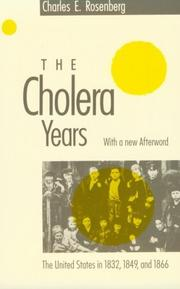 The cholera years by Charles E. Rosenberg