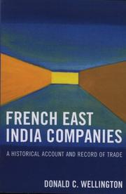 French East India companies by Donald C. Wellington