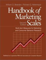 Handbook of marketing scales by William O. Bearden