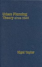 Urban planning theory since 1945 PDF