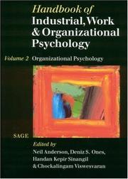 Handbook of industrial, work and organizational psychology