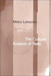 Cultural analysis of texts by Mikko Lehtonen
