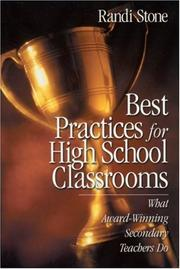 Best Practices for High School Classrooms by Randi Stone