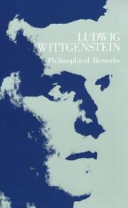 Philosophische Bemerkungen by Ludwig Wittgenstein