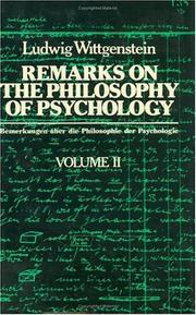 Remarks on the philosophy of psychology PDF
