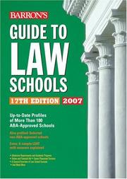 Guide to Law Schools (Barrons Guide to Law Schools)