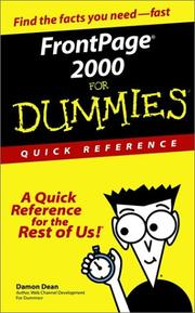 FrontPage 2000 for dummies PDF