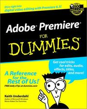 Adobe Premiere for dummies by Keith Underdahl