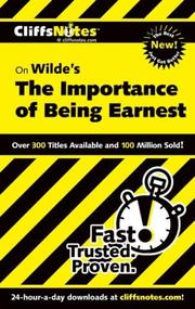 CliffsNotes Importance of Being Earnest PDF