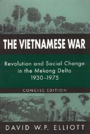 The Vietnamese War by David W. P. Elliott