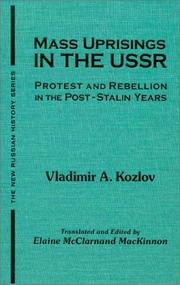 Mass uprisings in the USSR by V. A. Kozlov