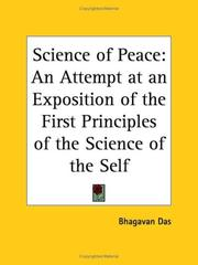 The science of peace by Bhagavan Das