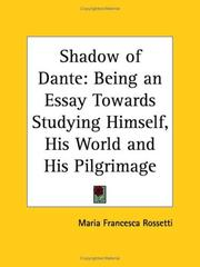 A shadow of Dante by Maria Francesca Rossetti