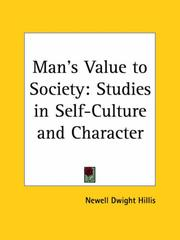A man's value to society by Newell Dwight Hillis