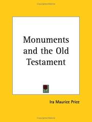 The monuments and the Old Testament by Ira Maurice Price