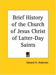 A brief history of the Church of Jesus Christ of Latter-day Saints PDF