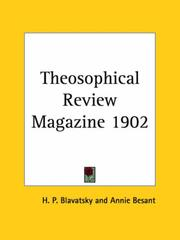 Theosophical Review Magazine 1902 PDF