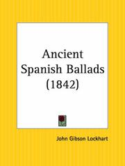 Ancient Spanish ballads by J. G. Lockhart