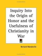Inquiry Into the Origin of Honor and the Usefulness of Christianity in War PDF