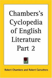 Chambers's Cyclopedia of English Literature, Part 2 PDF