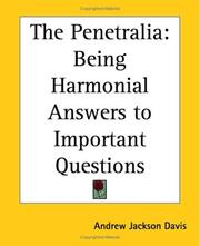 The penetralia by Andrew Jackson Davis