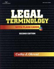 Legal terminology with flash cards by Cathy J. Okrent