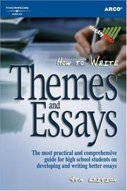How to write themes and essays by John McCall