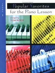 Popular Favorites for the Piano Lesson PDF