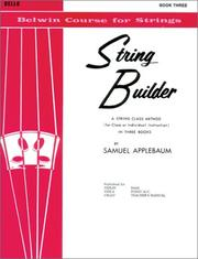 String Builder V3 Cello (Belwin Course for Strings) PDF