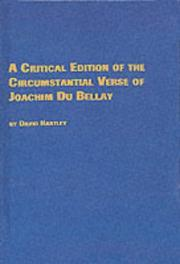 Poems by Du Bellay, Joachim