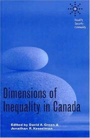 Dimensions of Inequality in Canada (Equality, Security, Community) PDF