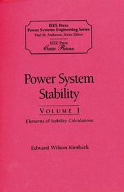 Power system stability by Edward Wilson Kimbark