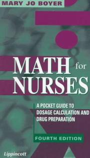 Math for nurses by Mary Jo Boyer