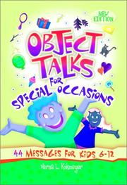 Object Talks For Special Occasions PDF