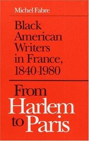 From Harlem to Paris by Fabre, Michel., Michel Fabre