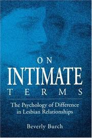 On Intimate Terms by Beverly Burch