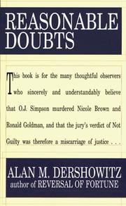 Reasonable doubts by Alan M. Dershowitz
